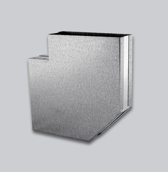 3080-FKB Flachkanal Bogen 90° mit Mittelsteg 250 x 50 mm-1