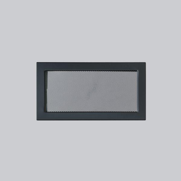 1684-VLG Ventlab Gitter mit Gittergewebe 325 x 170 mm, schwarz-1