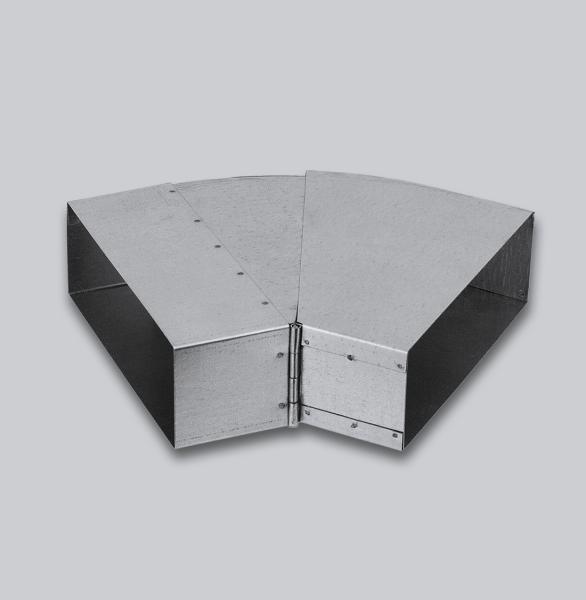 3096-FKBV Flachkanal Bogen verstellbar 25-45° 250 x 50 mm-1