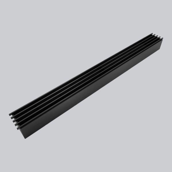 2060-OASTS Open Air 10 - SubSteel Small 65 Luftgitter, 650 x 60 mm, schwarz-1
