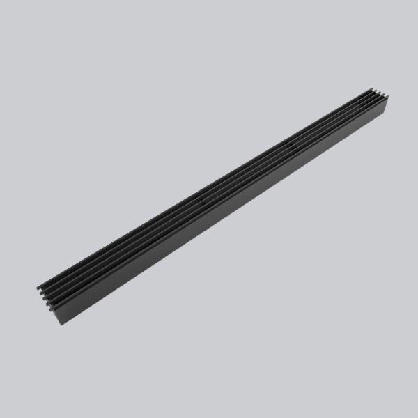 2070-OASTS Open Air 10 - SubSteel Small 100 Luftgitter, 1.000 x 60 mm, schwarz-1