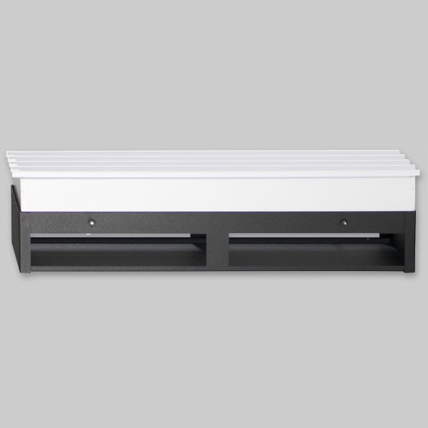 2081-OASP Sichtschutzplatte für Open Air 9 – SubSteel 100 Luftgitter, 1.000 x 100 mm, schwarz-1