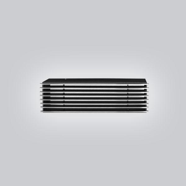 2010-OAST Open Air 9 – SubSteel 35 Luftgitter, 350 x 100 mm, schwarz mit Edelstahlfront-1