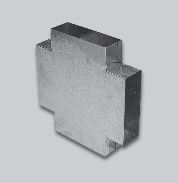 3110-FKTT Flachkanal Doppel-T-Stück 90° 150 x 50 mm-1