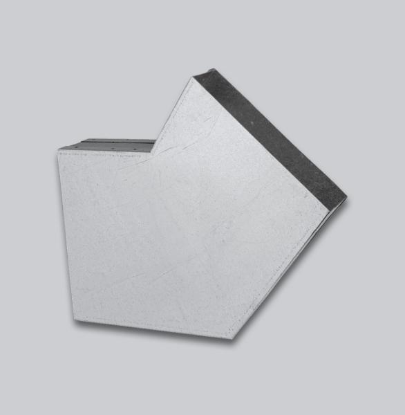 3072-FKB Flachkanal Bogen 45° mit Mittelsteg 250 x 50 mm-1