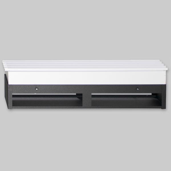 2077-OASP Sichtschutzplatte für Open Air 9 – SubSteel 35 Luftgitter, 350 x 100 mm, schwarz-1