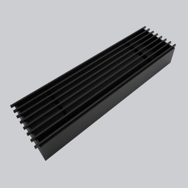 2015-OAST Open Air 9 – SubSteel 35 Luftgitter, 350 x 100 mm, schwarz-1