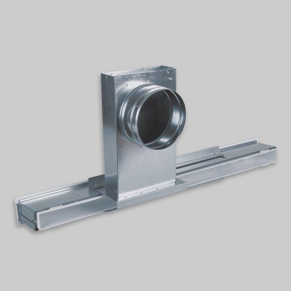 1230-ALXs Aluflex solo Anschluss für OA small, Laufschiene mit 1x Anschluss Ø 150 mm