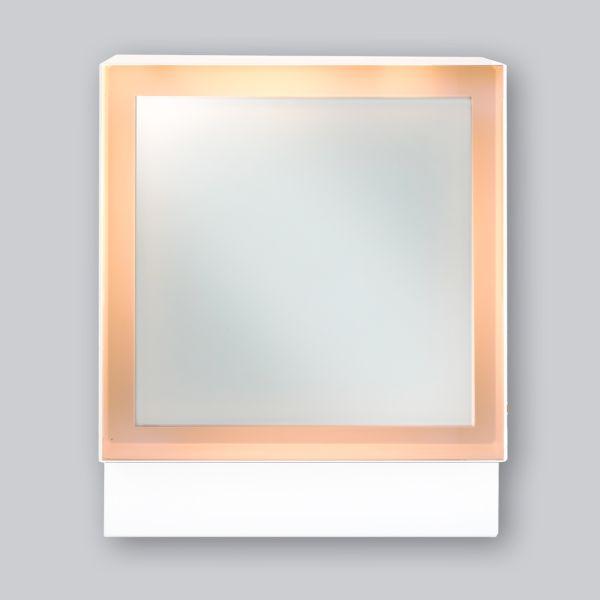 2255-UCLi Open Air 007 – UnderCover Licht 250 x 250 mm, Rahmen weiss, Front Glasplatte – weiss-1