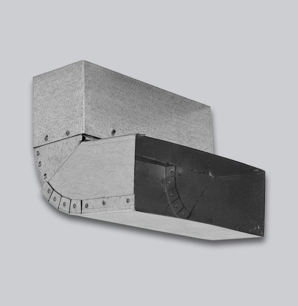 3390-FKUV Flachkanal Übergang Wand-Boden verstellbar 45-90°, 150 x 50 mm-1