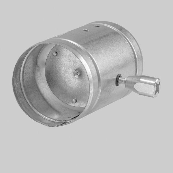 4486-AKL Absperrklappe mit Vierkantanschluss 8 x 8 mm, Silikon-Dichtlippe, Ø 125 mm-1