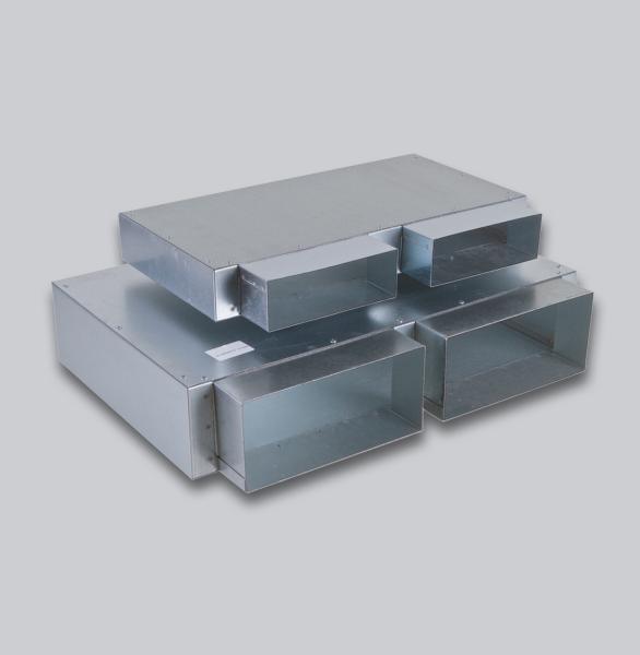 3234-FKSK Flachkanal Sammelkasten 250 x 50 mm, zwei Eingänge, kein Ausgang-1