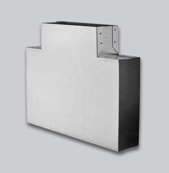 3100-FKT Flachkanal T-Stück 90° 150 x 50 mm-1