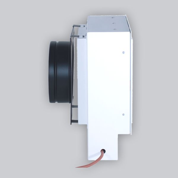 2282-UCSB UnderCover Stutzenblech 250 x 250 mm, mit 1 Stutzen Ø 150 mm, schwarz-1