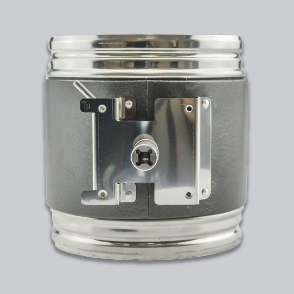7515-AKL-VA Edelstahl-Hafnerklappe Ø 180 mm mit Vierkantanschluss 8 x 8 mm, Flex-Foam-Dämmung-1
