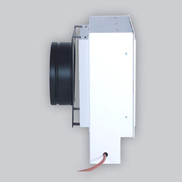 2284-UCSB UnderCover Stutzenblech 440 x 220 mm, mit 1 Stutzen Ø 125 mm, schwarz-1