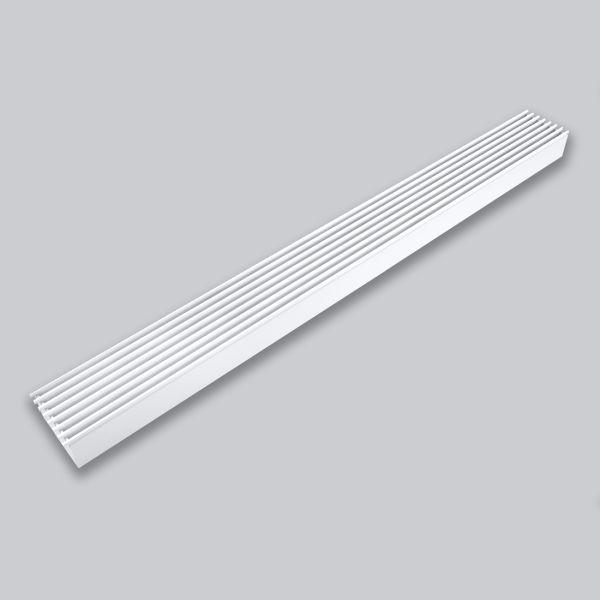 2040-OAST Open Air 9 – SubSteel 100 Luftgitter, 1.000 x 100 mm, weiss-1
