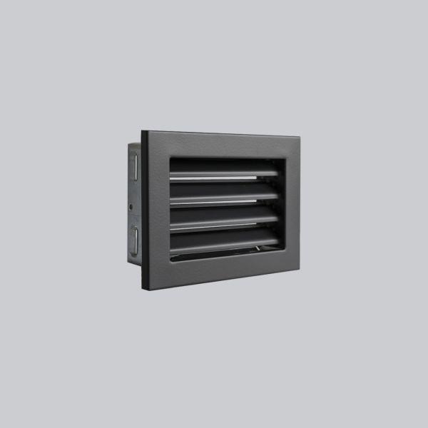 1640-VLF Ventlab Lamellengitter feststehend 200 x 145 mm, schwarz-1