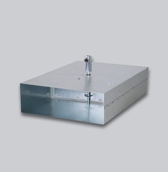 3550-FKAV Flachkanal Absperrklappe mit Silikondichtung, Innenvierkantanschluss 8 x 8 mm, 150 x 50 mm-1