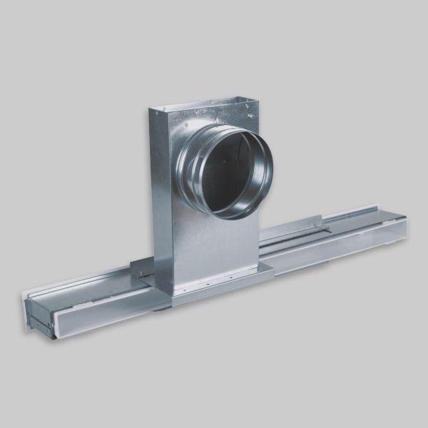 1225-ALXs Aluflex solo Anschluss für OA small, Laufschiene mit 1x Anschluss Ø 125 mm-1