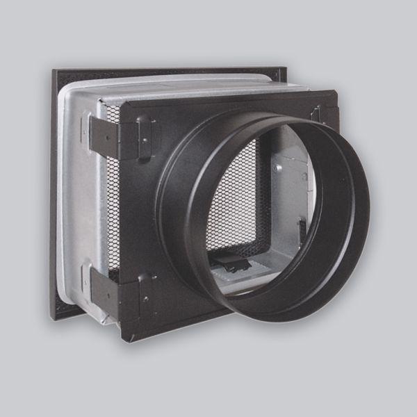 1754-VSB verstellbares Stutzenblech 200 x 145 mm, mit 1 Stutzen Ø 125 mm, schwarz-1