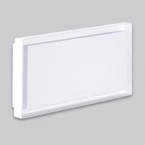 2215-OAUC Open Air 007 – UnderCover 440 x 220 mm, Rahmen weiss, Front Stahlplatte – weiss-1