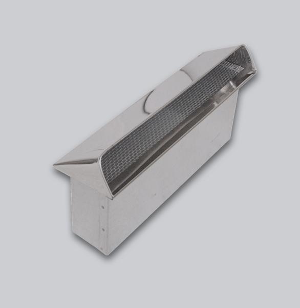 3510-FKAL Flachkanal Außenluft-Anschluss mit Insektenschutzgitter, Abdeckung Edelstahl, 250 x 50 mm-1