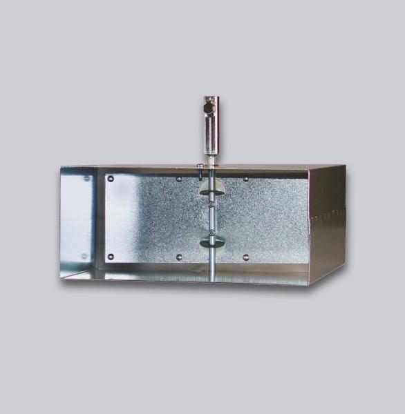 3555-FKAV Flachkanal Absperrklappe mit Silikondichtung, Innenvierkantanschluss 8 x 8 mm, 200 x 90 mm-1