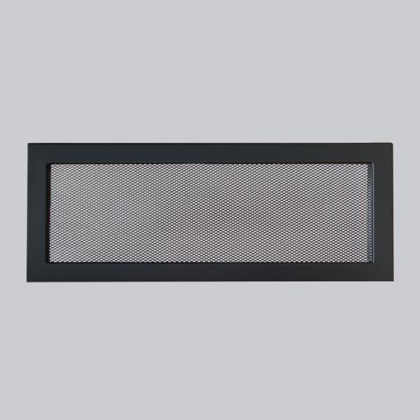 1696-VLG Ventlab Gitter mit Gittergewebe 450 x 170 mm, schwarz-1