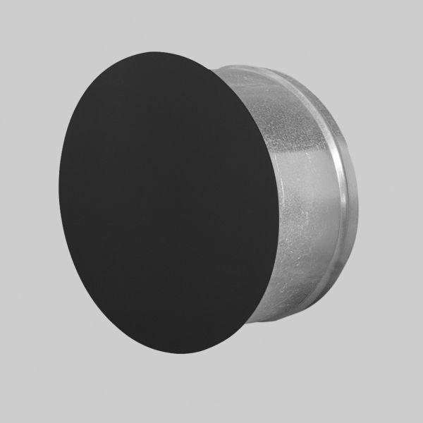 5310-PD Putzdeckel rund, Ø 125 mm, Frontplatte Ø 145 mm, SCHWARZ-1
