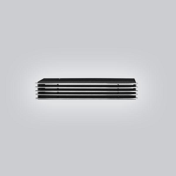 2045-OASTS Open Air 10 - SubSteel Small 35 Luftgitter, 350 x 60 mm, schwarz mit Edelstahlfront-1