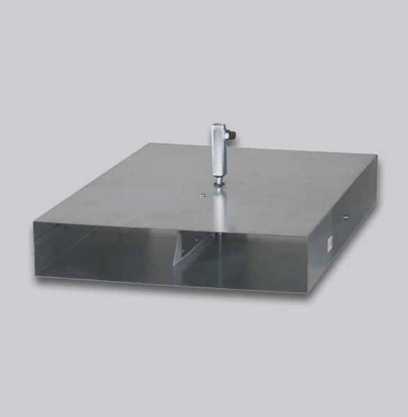 3560-FKAV Flachkanal Absperrklappe mit Silikondichtung, Innenvierkantanschluss 8 x 8 mm, 250 x 50 mm-1