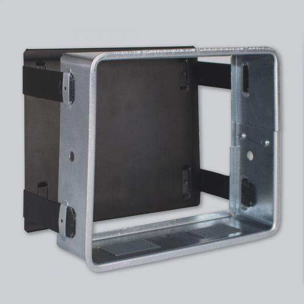 1816-VSP verstellbare Sichtschutzplatte 450 x 240 mm, schwarz