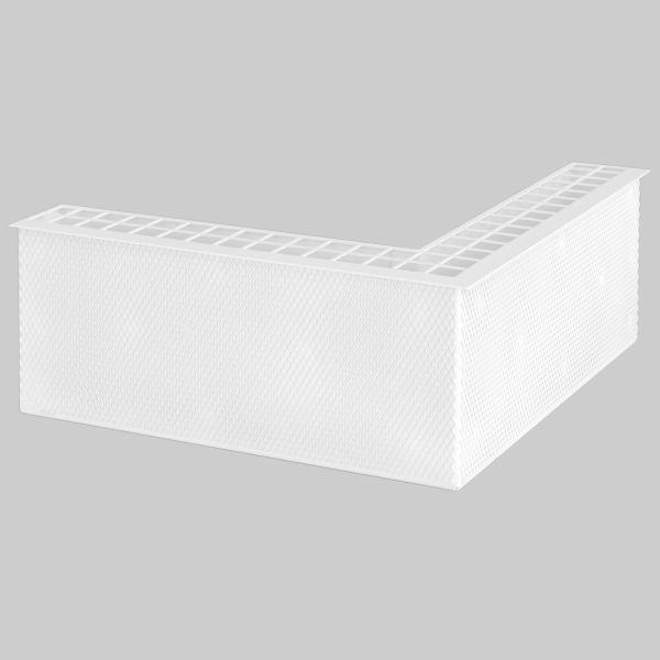 0208-EL EasyLine Gitter Außenecke 250 x 250 x 101 mm, weiß-1
