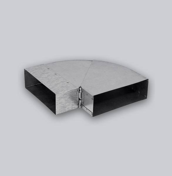 3088-FKBV Flachkanal Bogen verstellbar 45-90° 250 x 50 mm-1