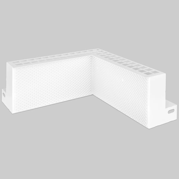 0206-EL EasyLine Gitter Innenecke 250 x 250 x 101 mm, weiß-1
