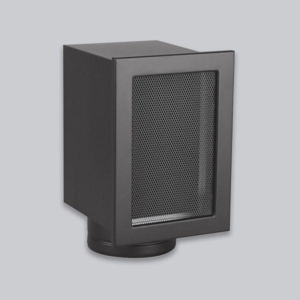 1844-VSK Stutzenkasten 325 x 195 mm, mit 1 vertikalen Stutzen Ø 125 mm, schwarz-1