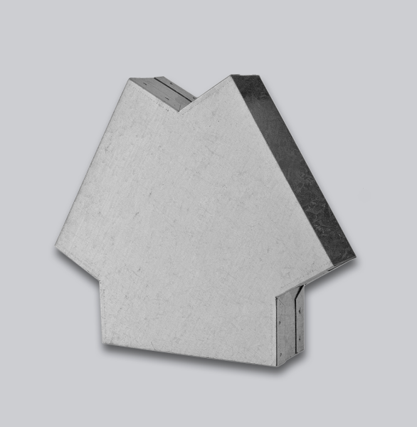3130-FKY Flachkanal Y-Stück 120° 150 x 50 mm-1