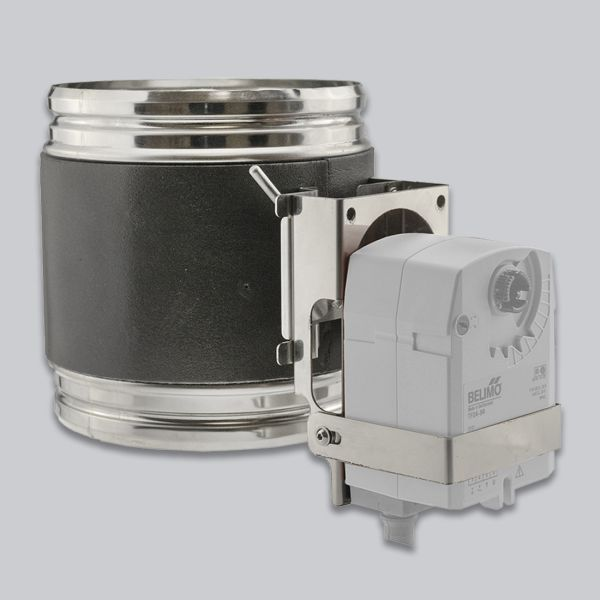 7550-AKL-VA Edelstahl-Hafnerklappe Ø 200 mm mit Belimo-Vorbereitung-1