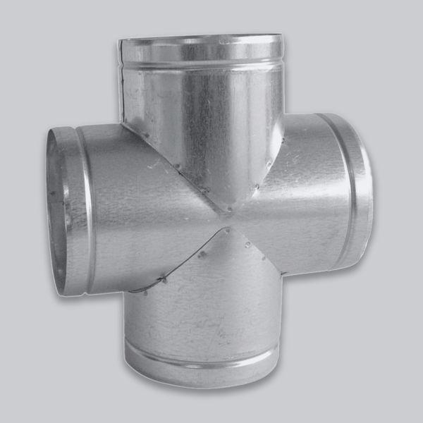 4628-LVTT Luftverteiler Doppel - T-Form 90°, Ø 180 mm-1