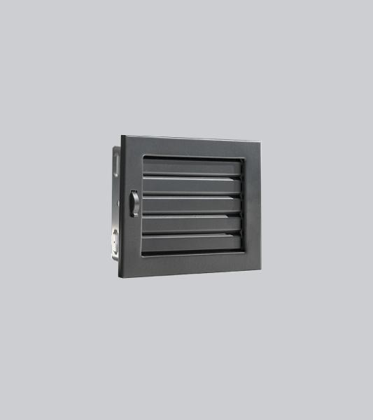1604-VLV Ventlab Lamellengitter verstellbar 200 x 145 mm, schwarz-1
