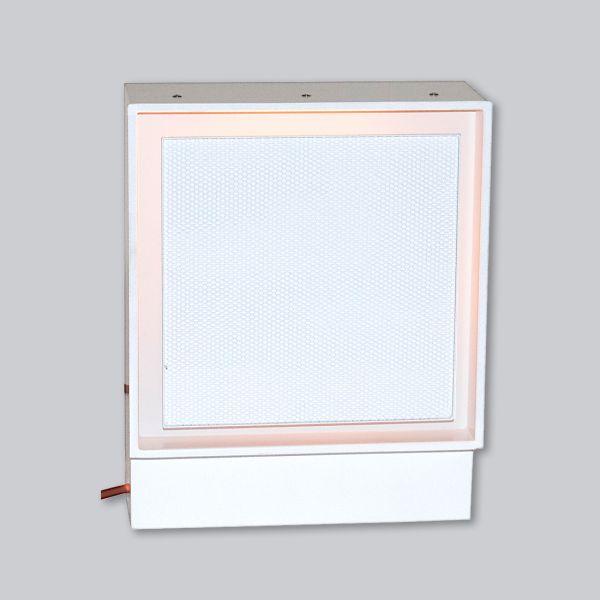 2265-UCLi Open Air 007 – UnderCover Licht 350 x 350 mm, Rahmen weiss, Front – Putzträgerplatte-1