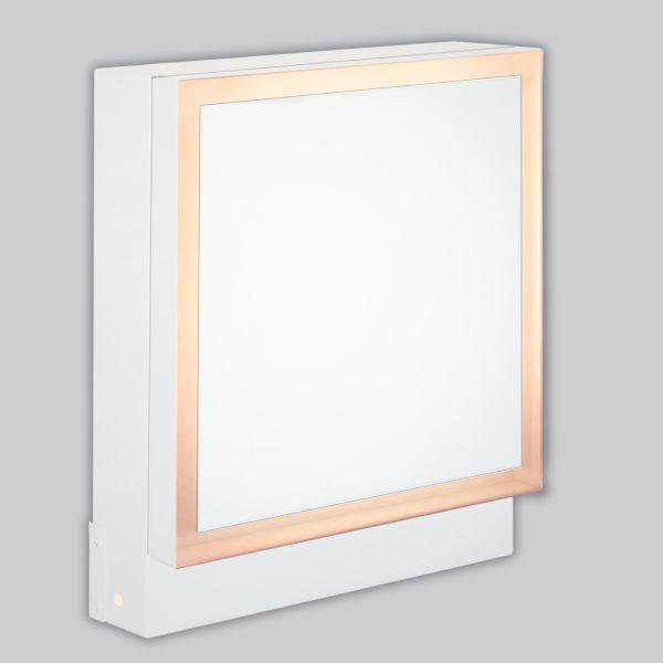 2260-UCLi Open Air 007 – UnderCover Licht 350 x 350 mm, Rahmen weiss, Front Stahlplatte – weiss-1