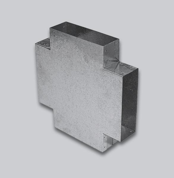 3114-FKTT Flachkanal Doppel-T-Stück 90° 250 x 50 mm-1