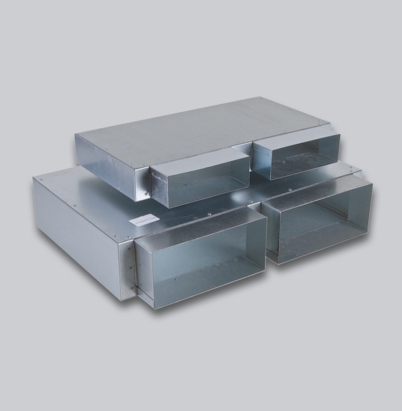 3232-FKSK Flachkanal Sammelkasten 200 x 90 mm, zwei Eingänge, kein Ausgang-1