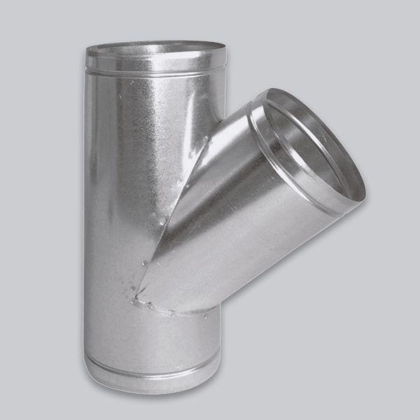 4606-LVT Luftverteiler T-Form 45°, Ø 125 mm-1