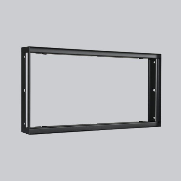 1738-VPR putzbündiger Rahmen 450 x 220 mm, schwarz-1